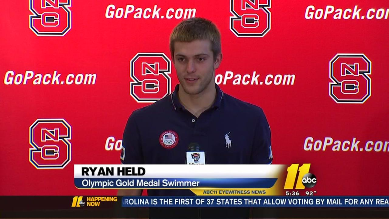 Ryan Held speaks about his gold-medal experience