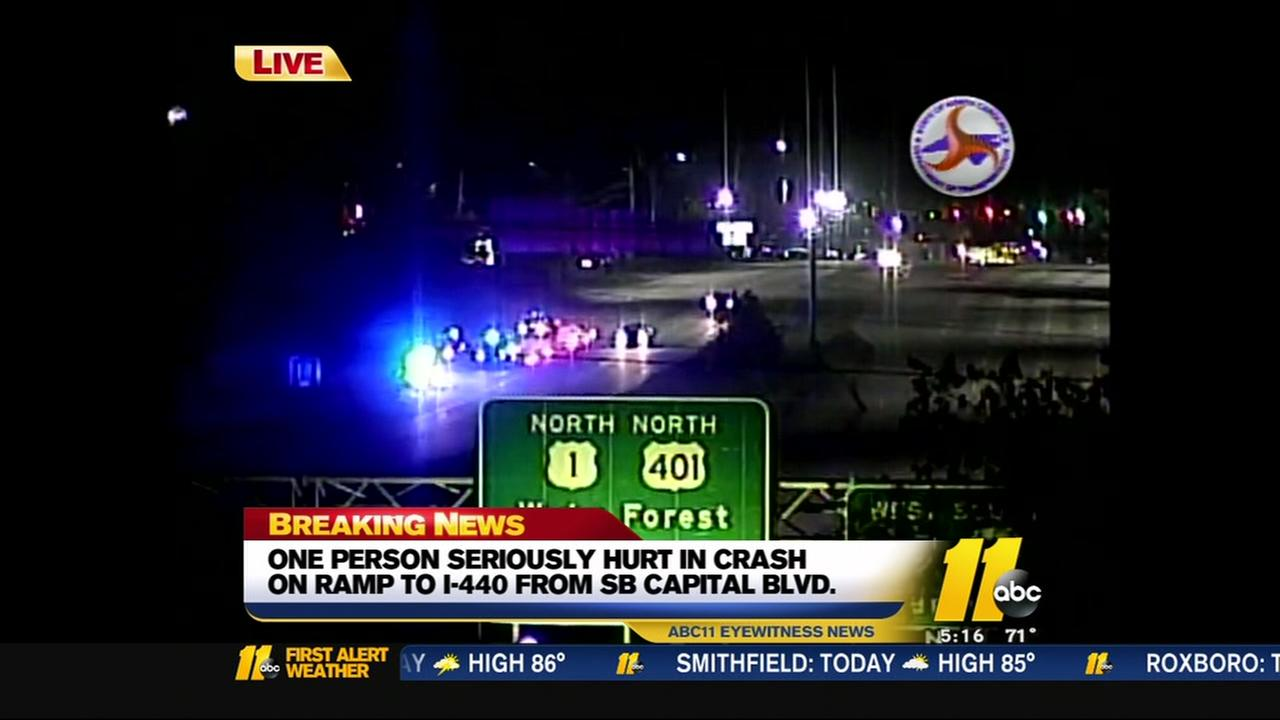 One person seriously injured in I-440 crash - Durham news
