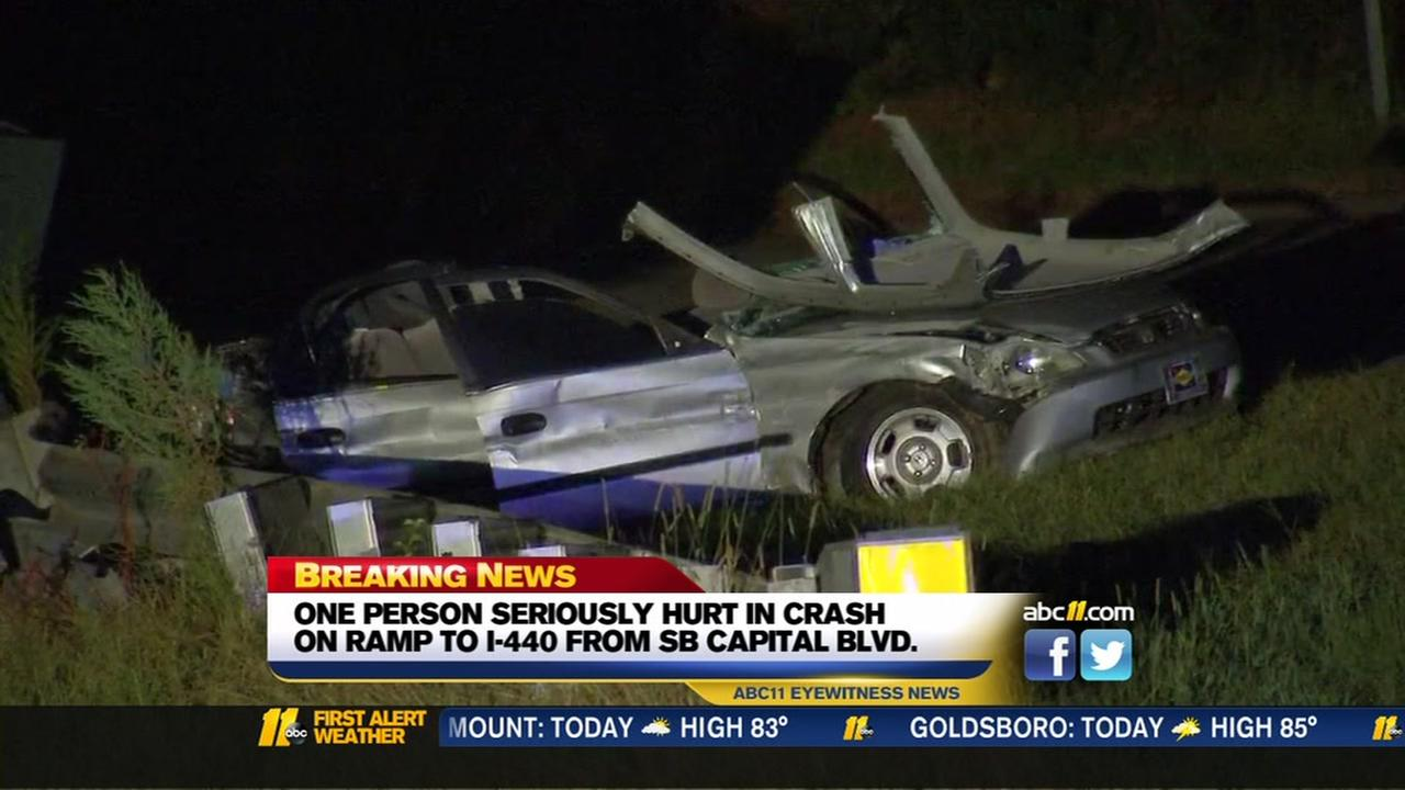 One person seriously hurt in crash