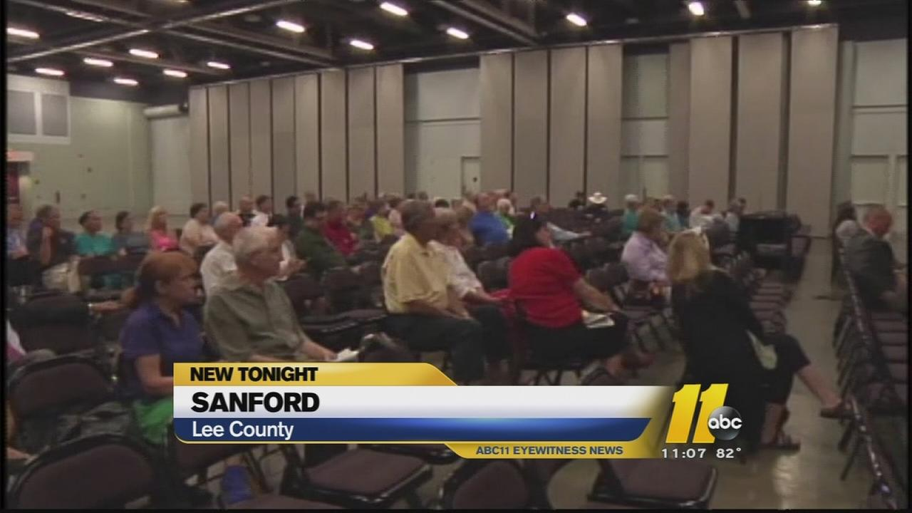 Sanford residents speak out at public hearing on fracking