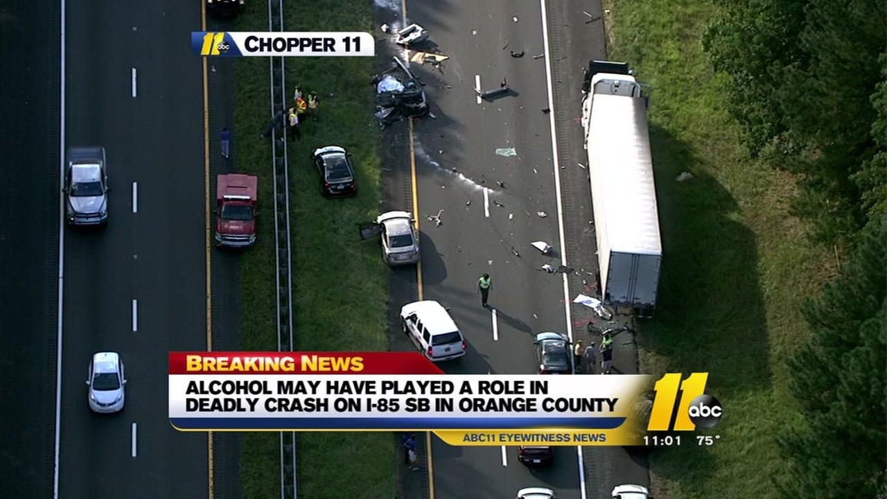 Alcohol may have been involved in deadly I-85 wreck