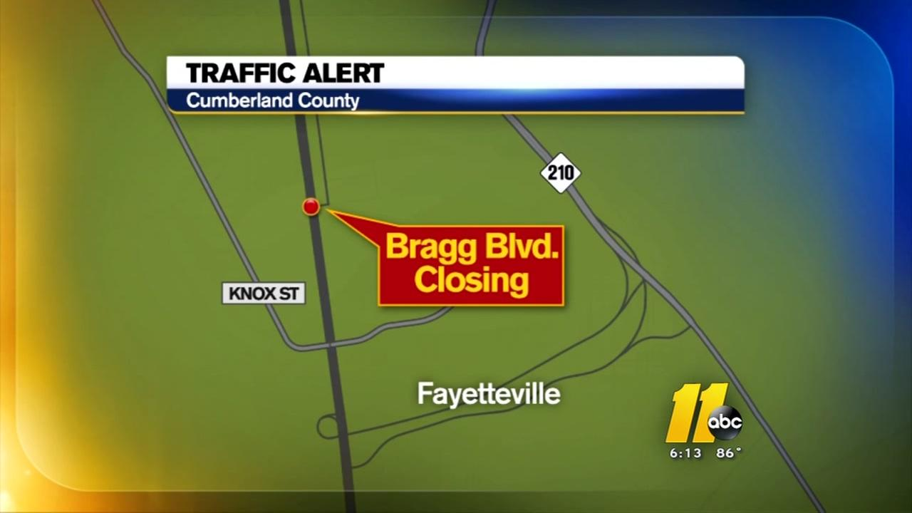 New traffic pattern on Bragg Blvd
