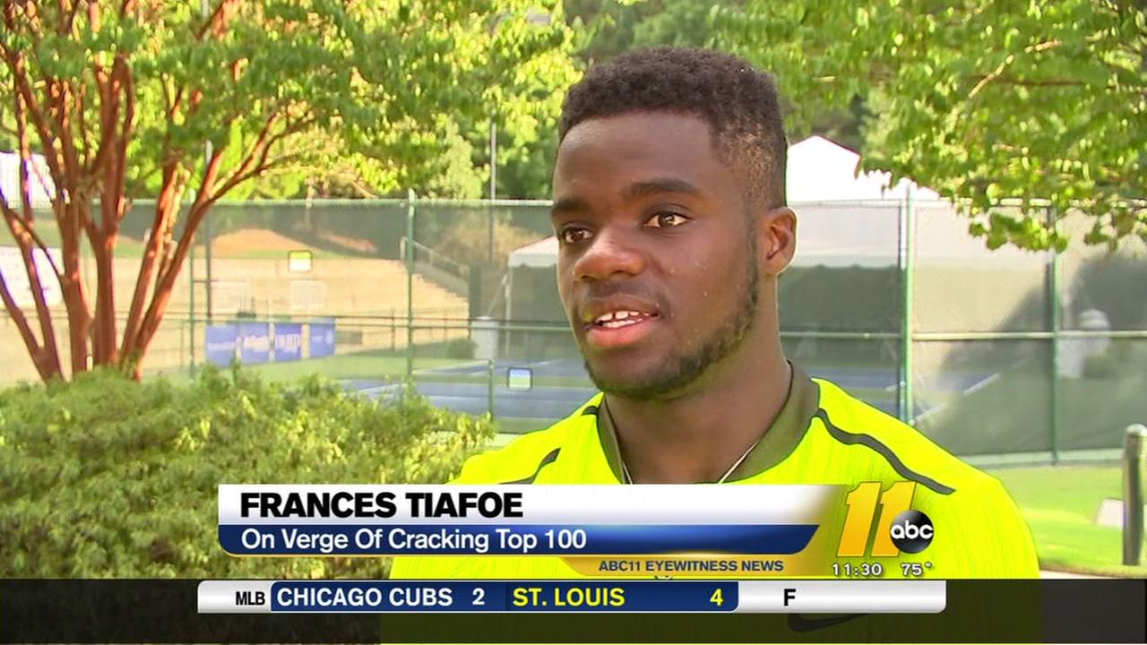 Frances Tiafoe is moving up in the tennis world