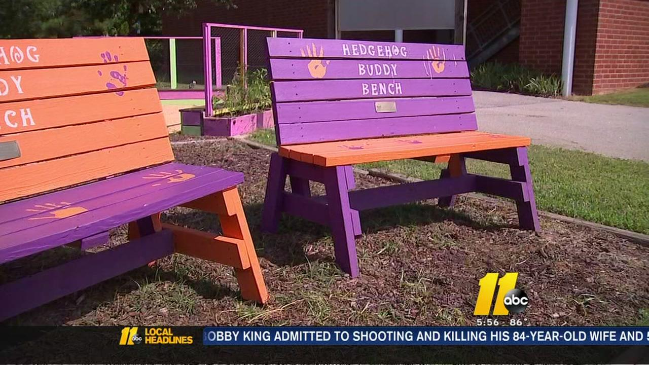Buddy Benches discourage bullying at local schools