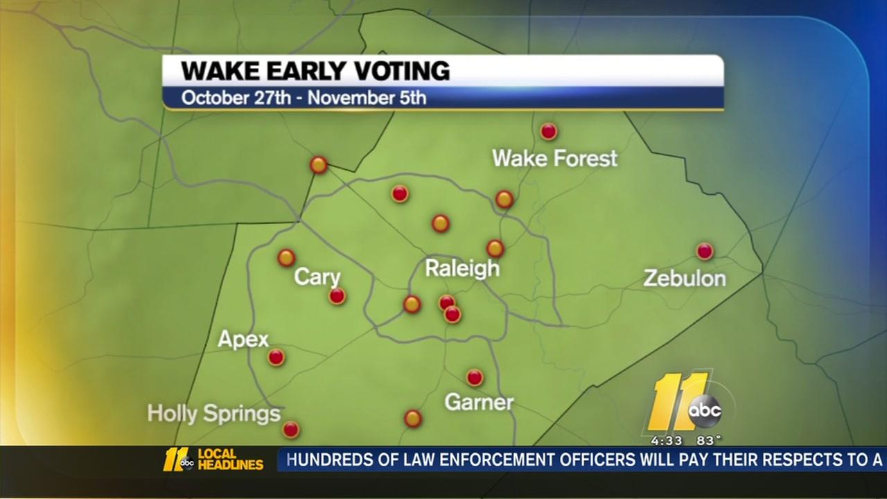 Wake County adds early voting sites