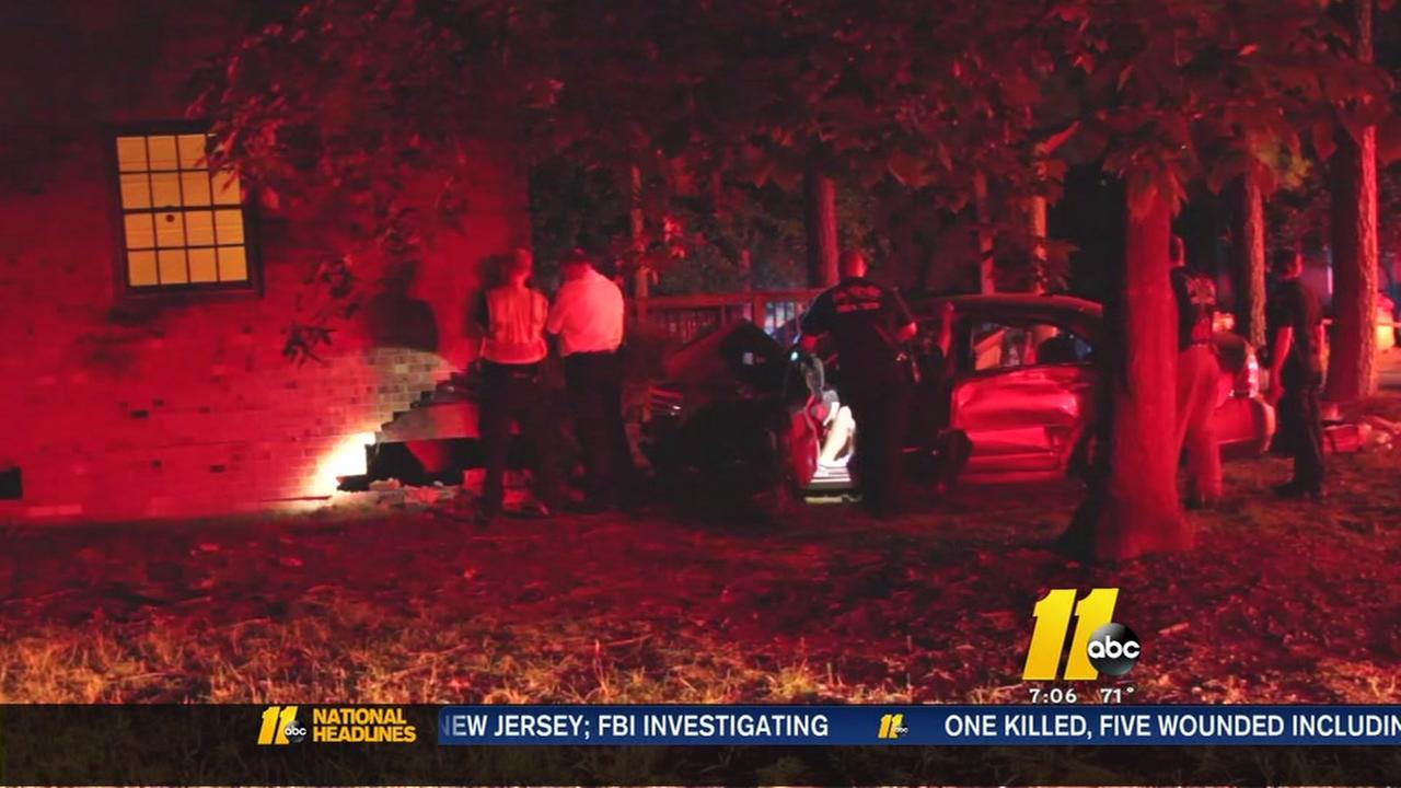 Car slams into Fayetteville homes