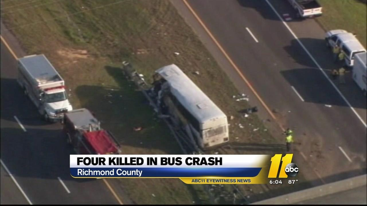 8-year-old among dead in charter bus crash