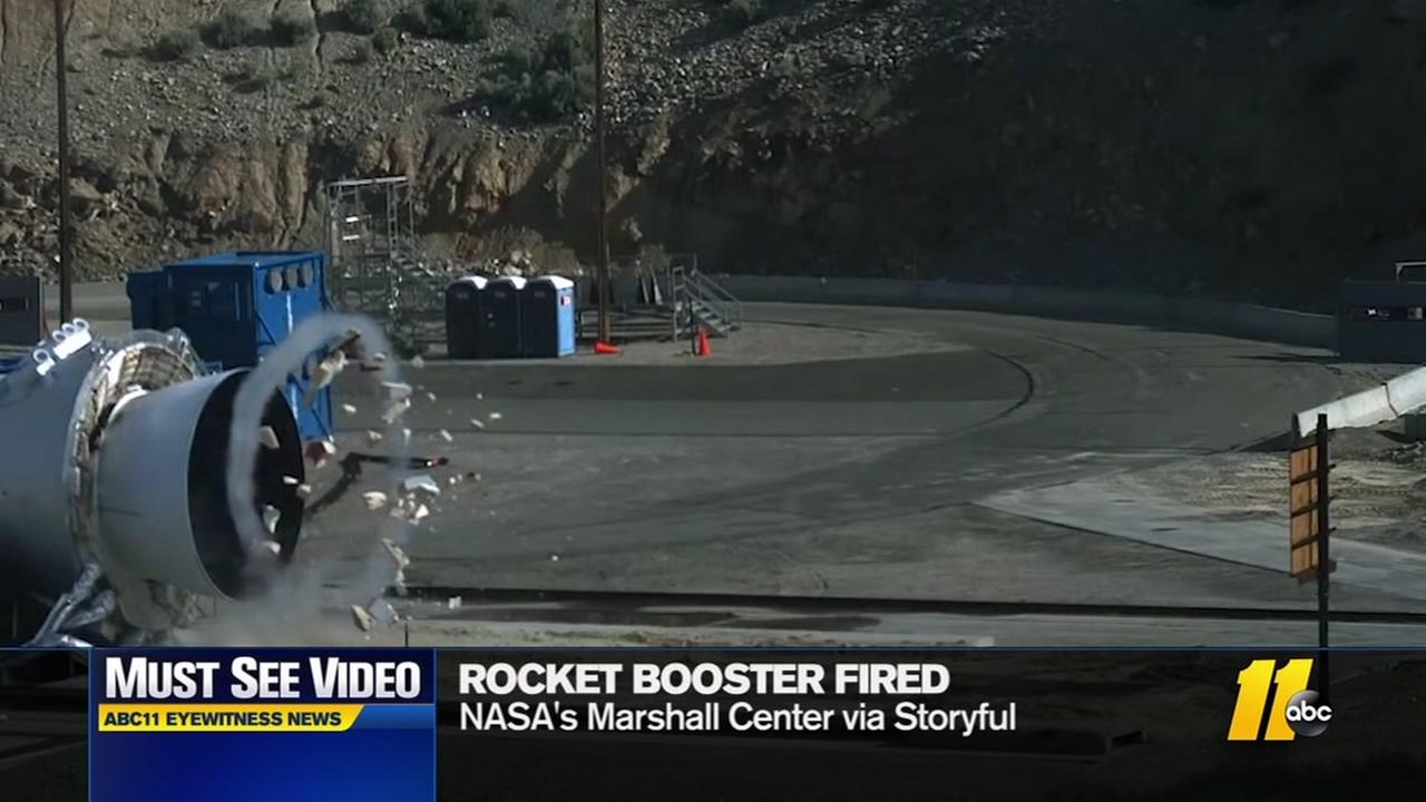 Rocket booster fired