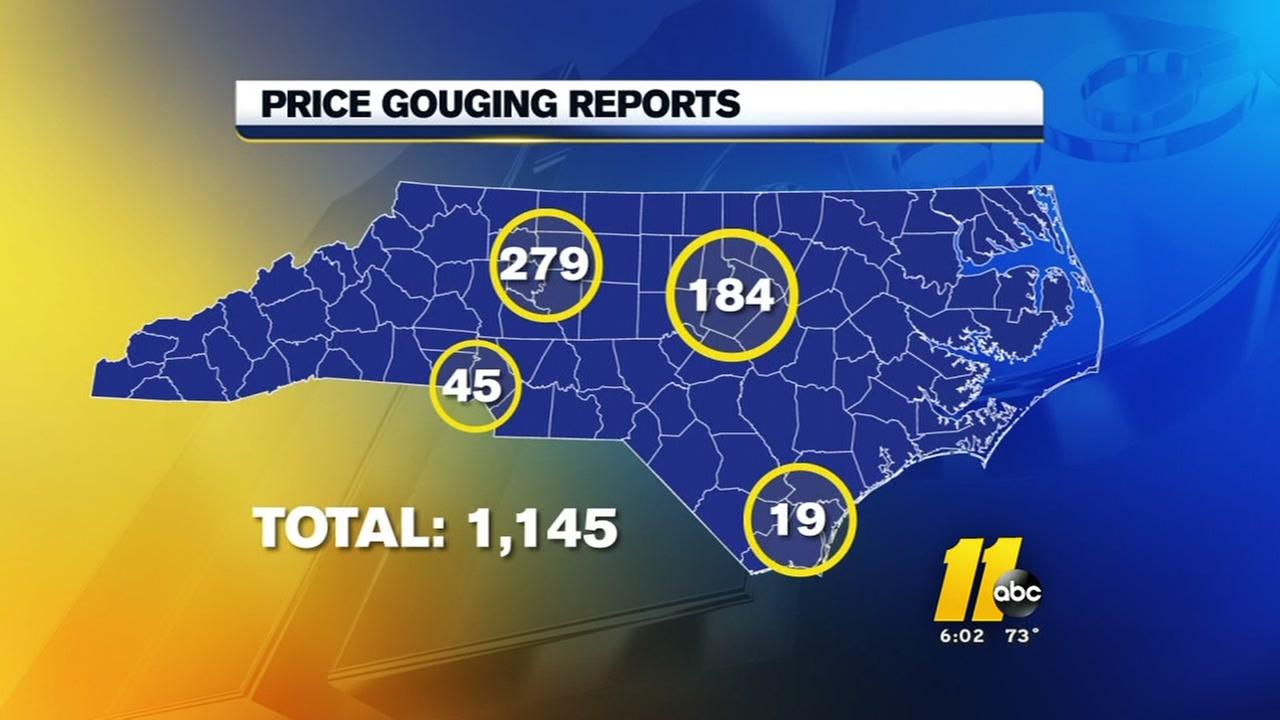 Over 1,100 reports of price gouging