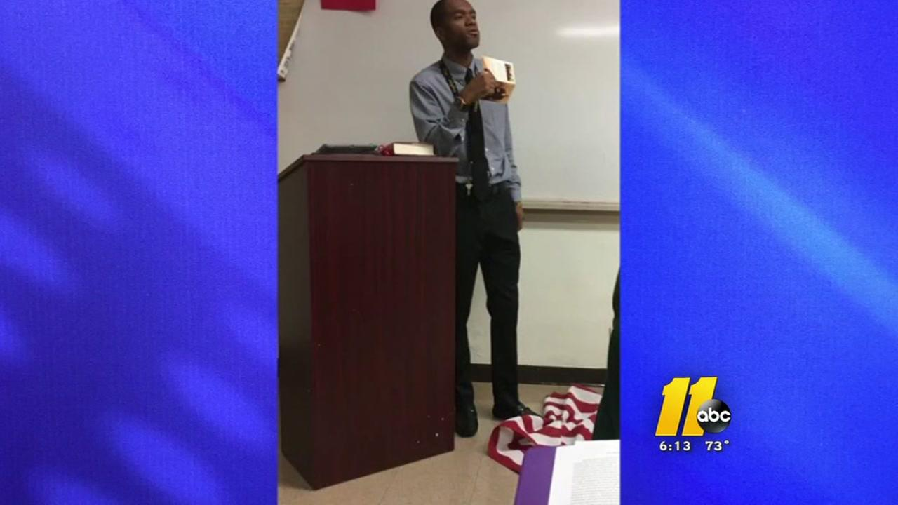Outrage after Fayetteville teacher stomps on flag