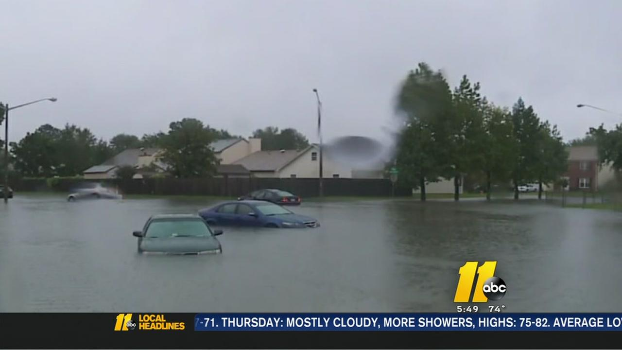 Record rain falls in eastern NC