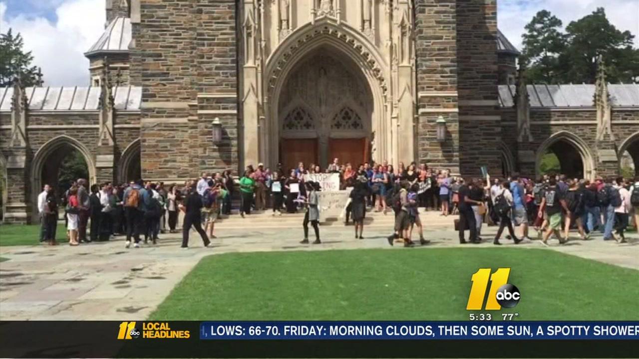 Students protest at Duke University