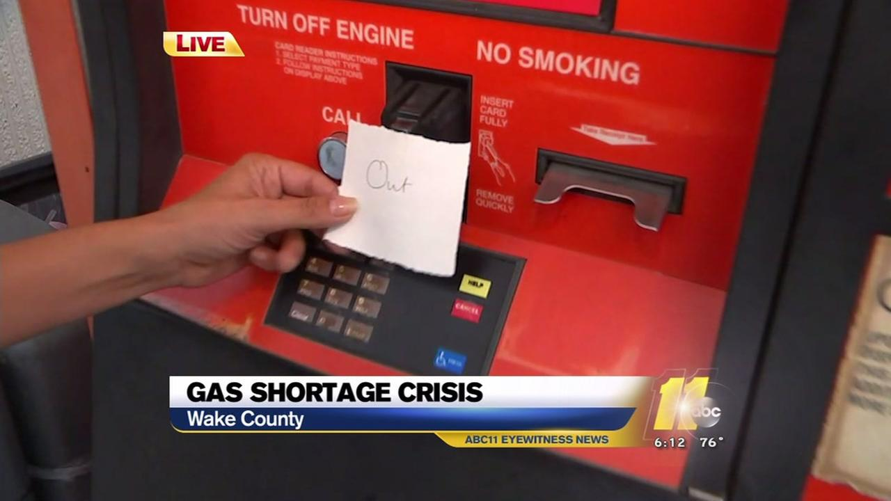 Gas shortage continues in Triangle