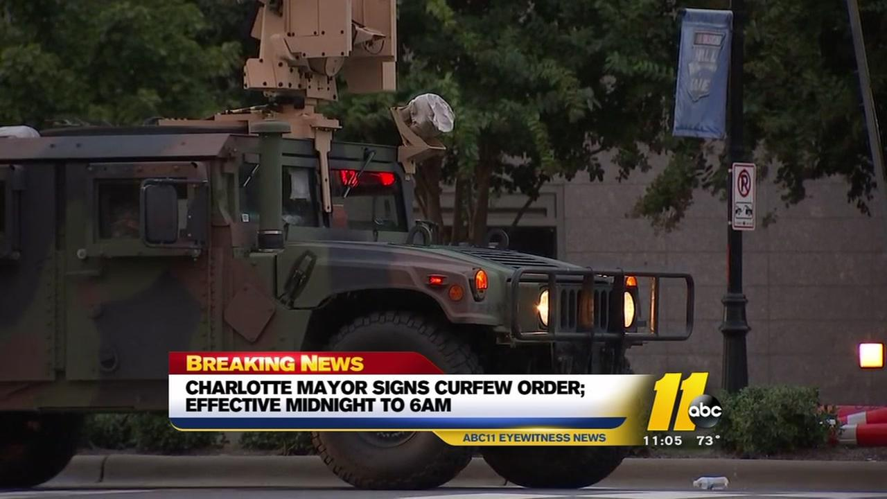 Curfew in effect for Charlotte