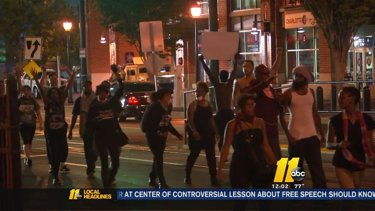 Tensions high despite quiet night in Charlotte