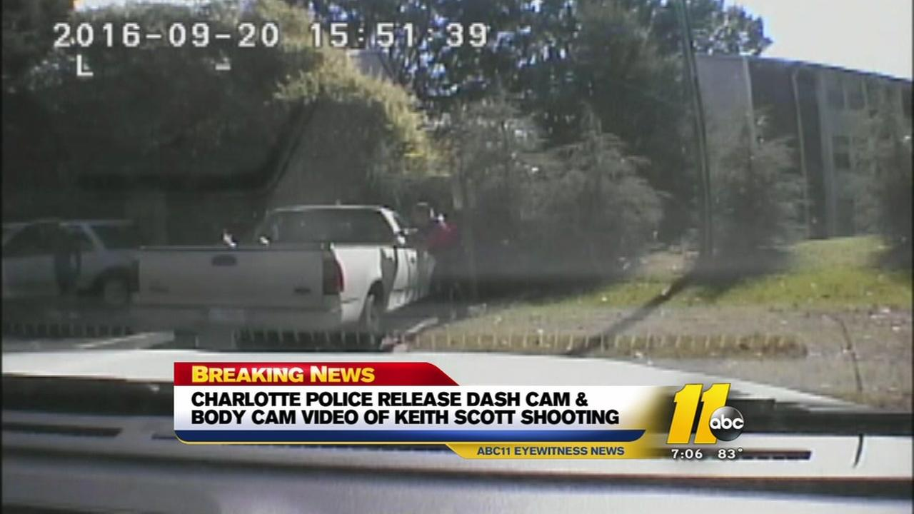 Charlotte police release video of officer-involved shooting