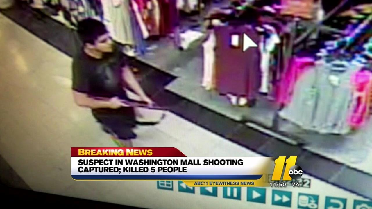 Suspect in Washington mall shooting in custody