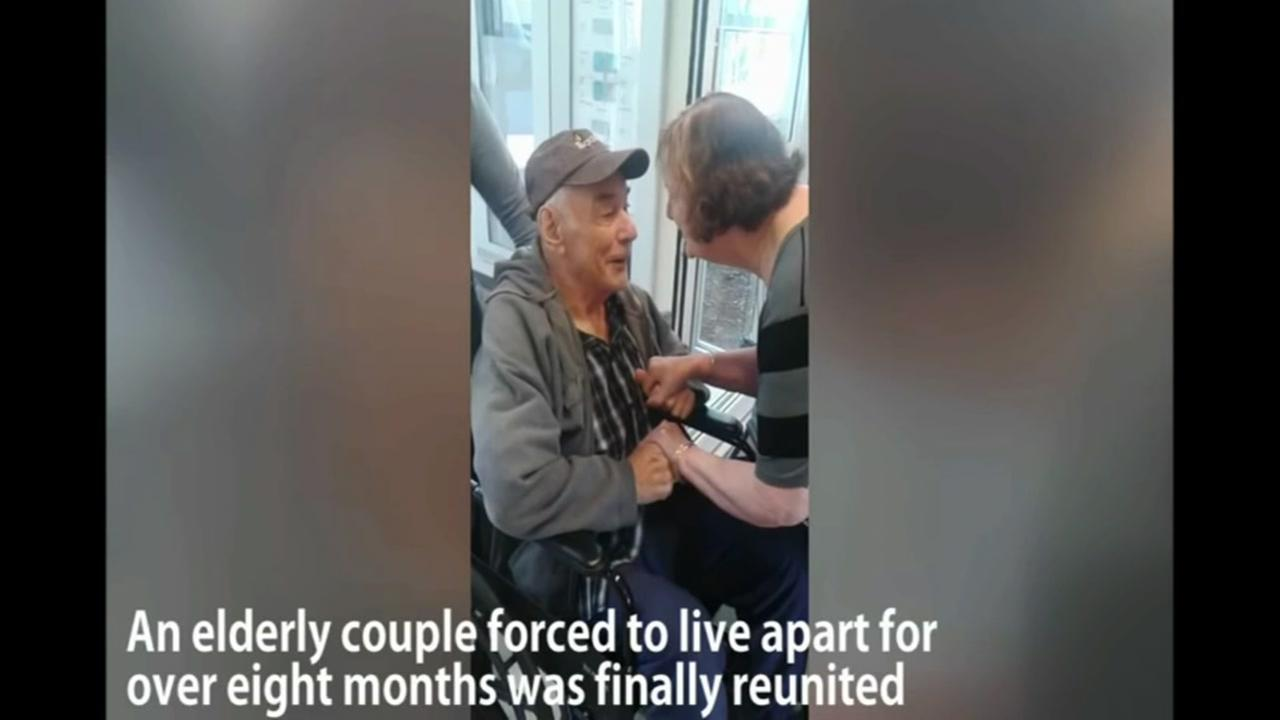 Elderly couple reunited