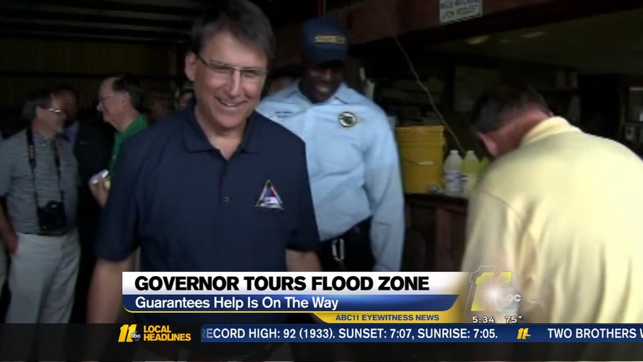 Gov. McCrory tours flood zone