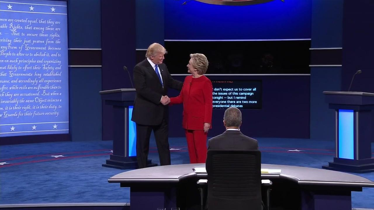 Donald Trump and Hillary Clinton square off