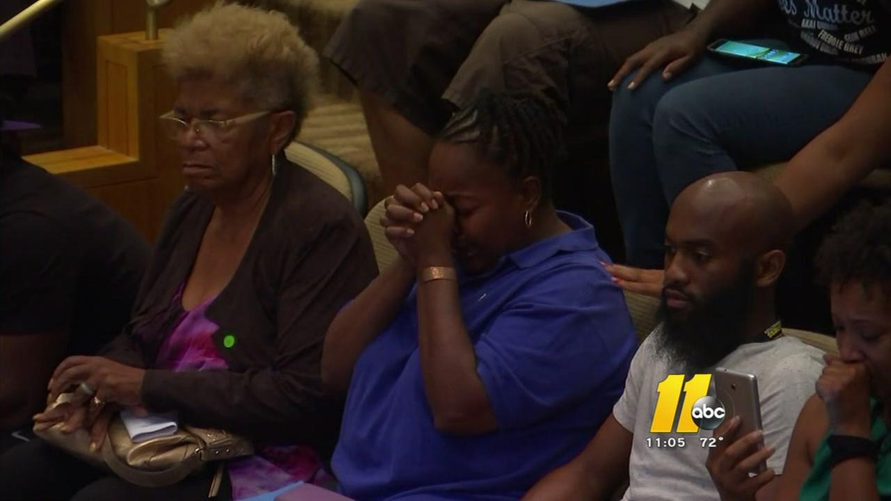 Emotional protests at Charlotte meeting