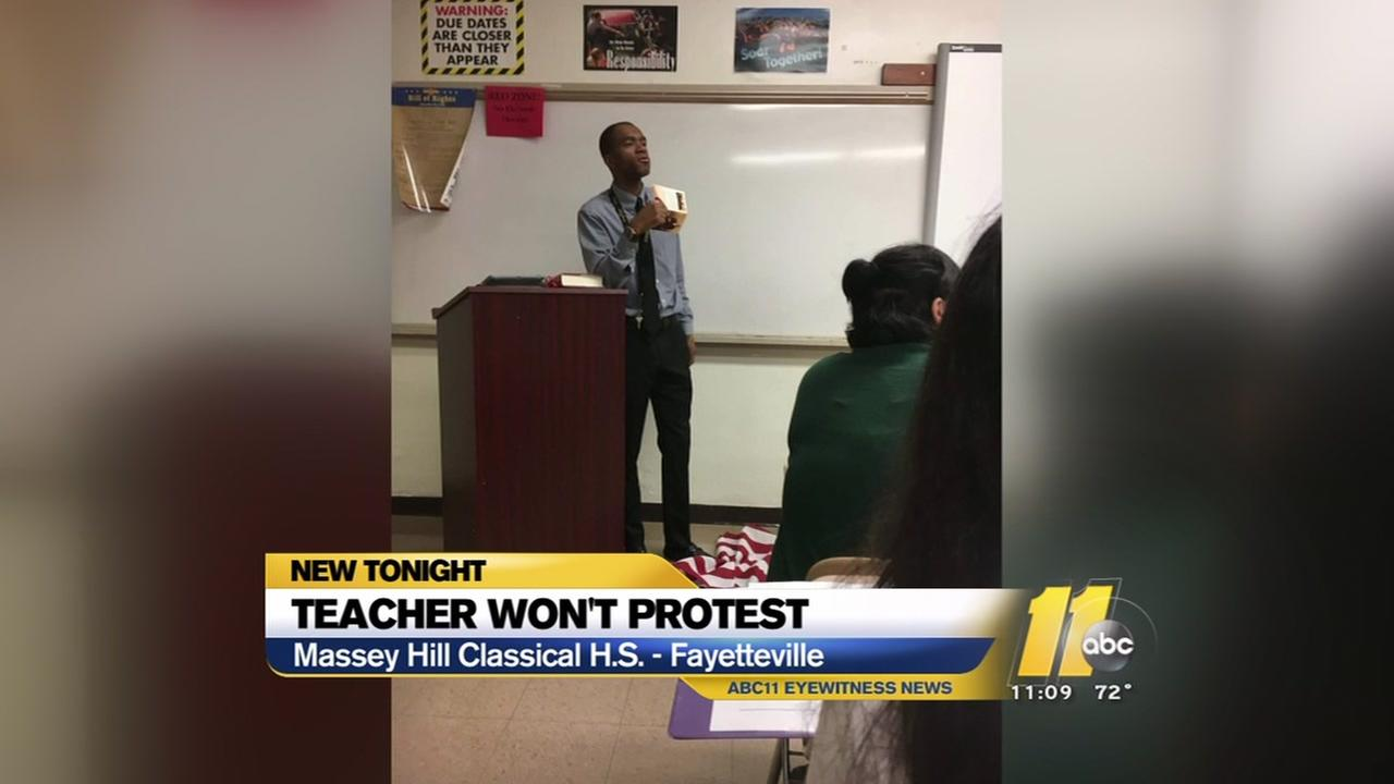 Fayetteville teacher decides not to protest