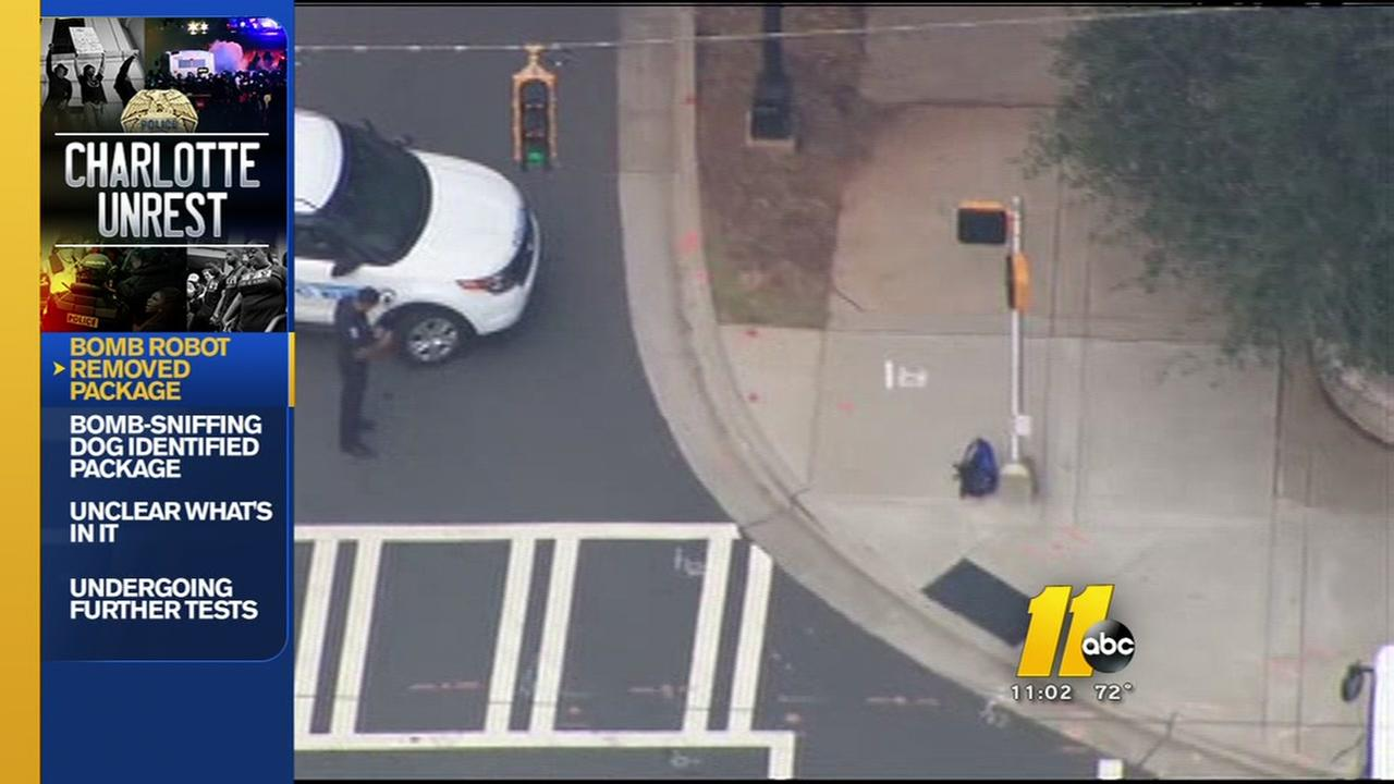 Suspicious package removed from Charlotte police headquarters