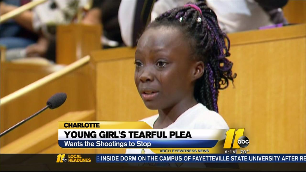 Young girls tearful plea goes viral