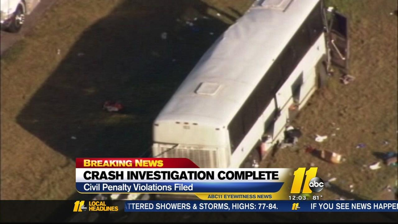 Bus crash investigation complete