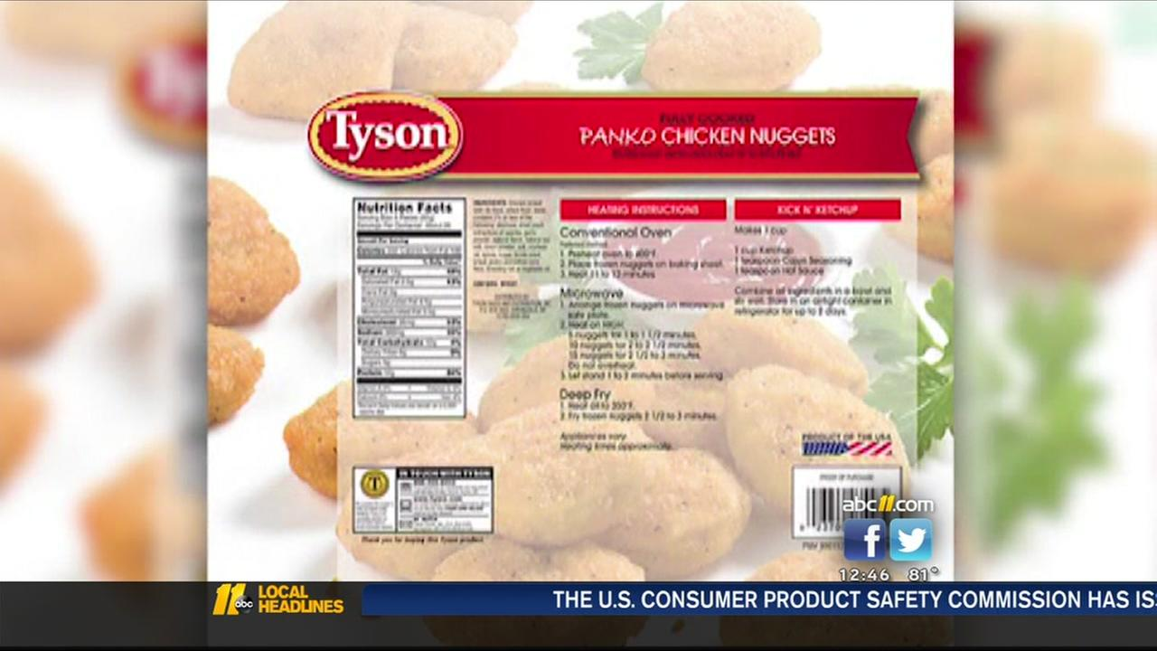 Tyson recalls chicken nuggets