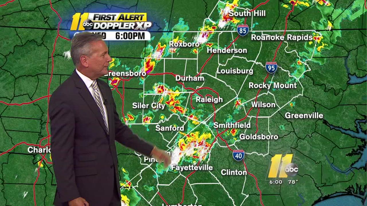 Severe storms roll through central NC