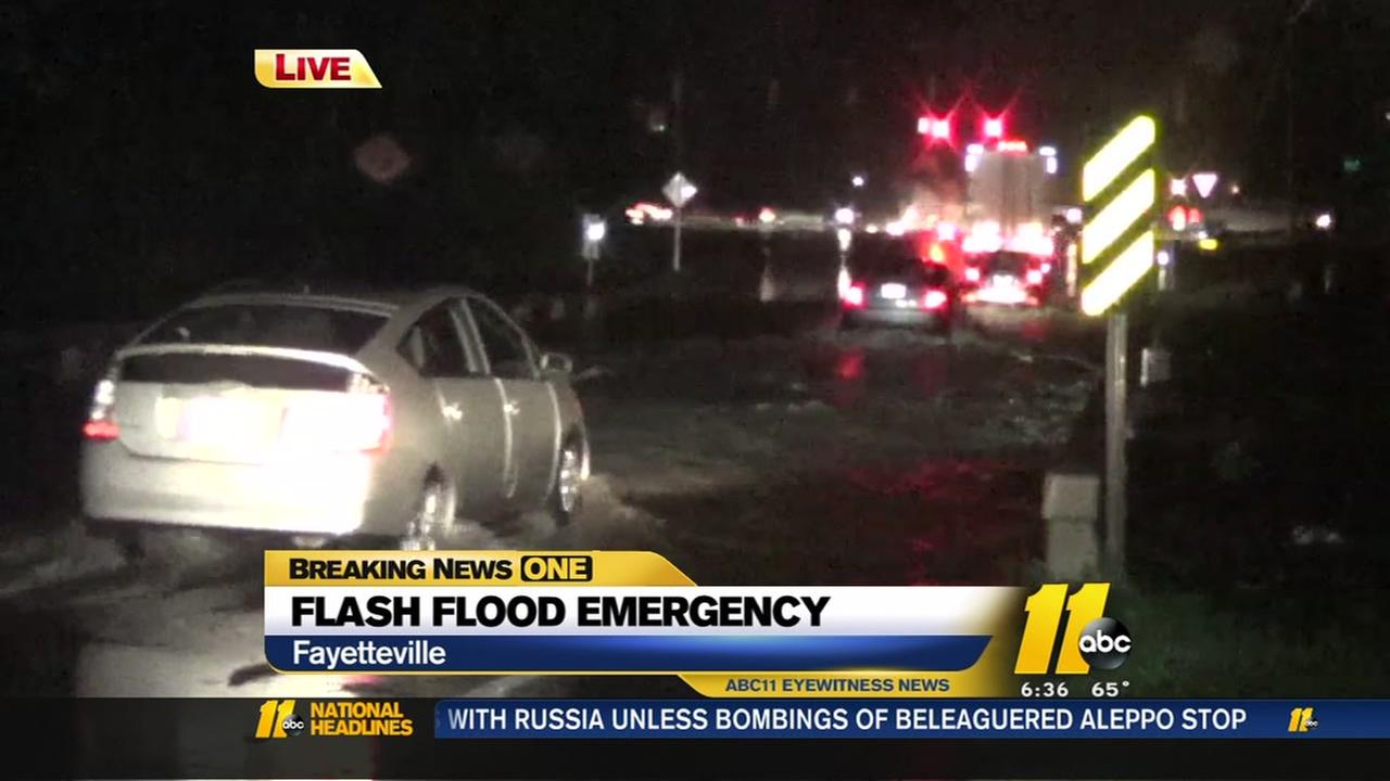 Flash flood emergency in Cumberland County