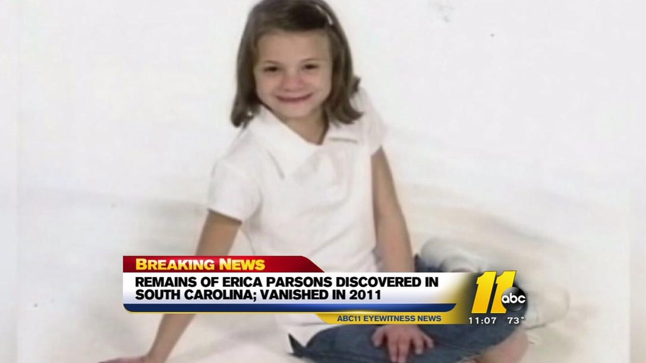 Remains of Erica Parsons found