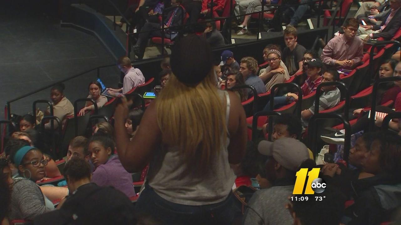 Emotional town hall at NCSU after racial messages revealed