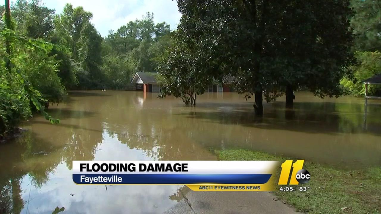 Flooding damage in Fayetteville