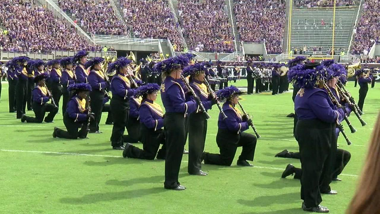 Some ECU band members kneel during national anthem