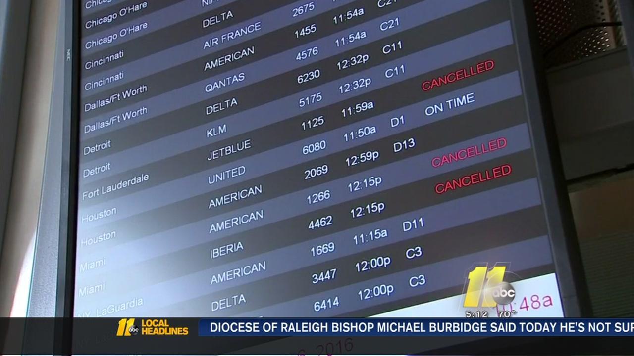 Flights cancelled ahead of Hurricane Matthew