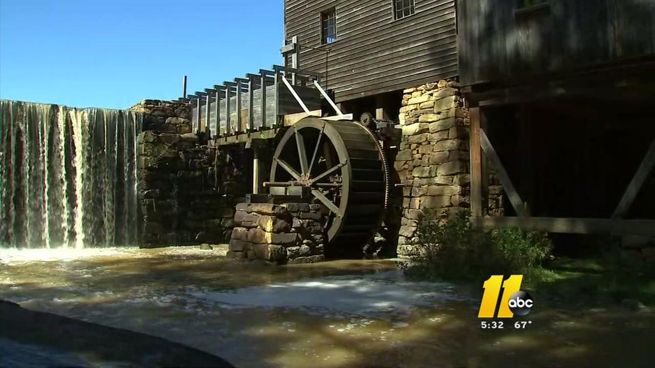 Floodwaters damage historic Yates Mill