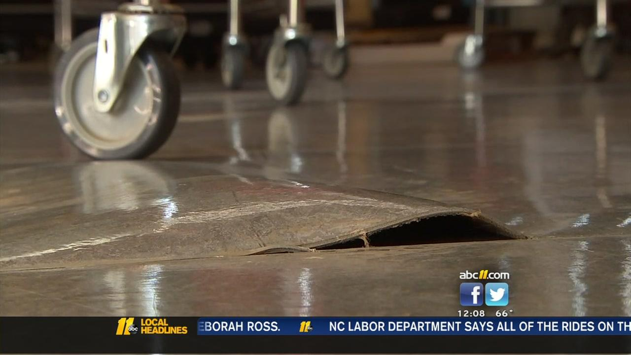 Wake County school damaged by flood