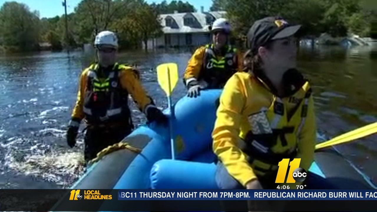 ABC11 takes boat tour of Sampson Co flood zone