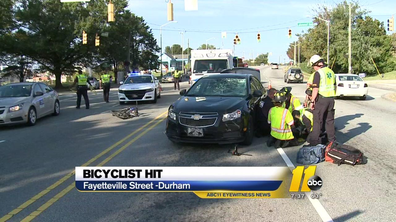 Bicyclist hit in Durham