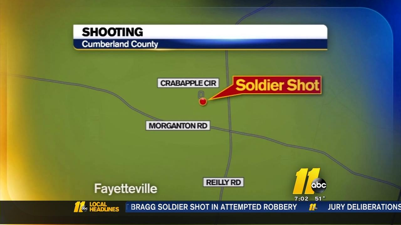 Fort Bragg soldier shot during attempted robbery