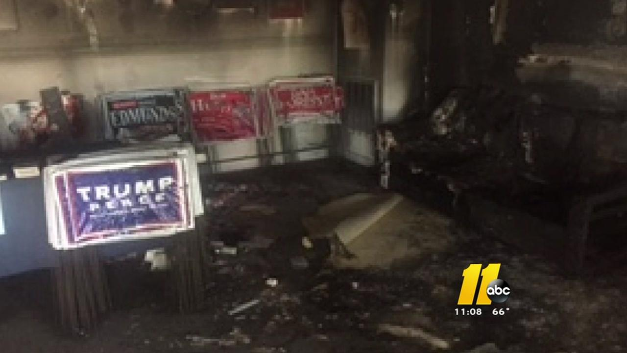 Investigation continues into firebombing of Orange County NC GOP office