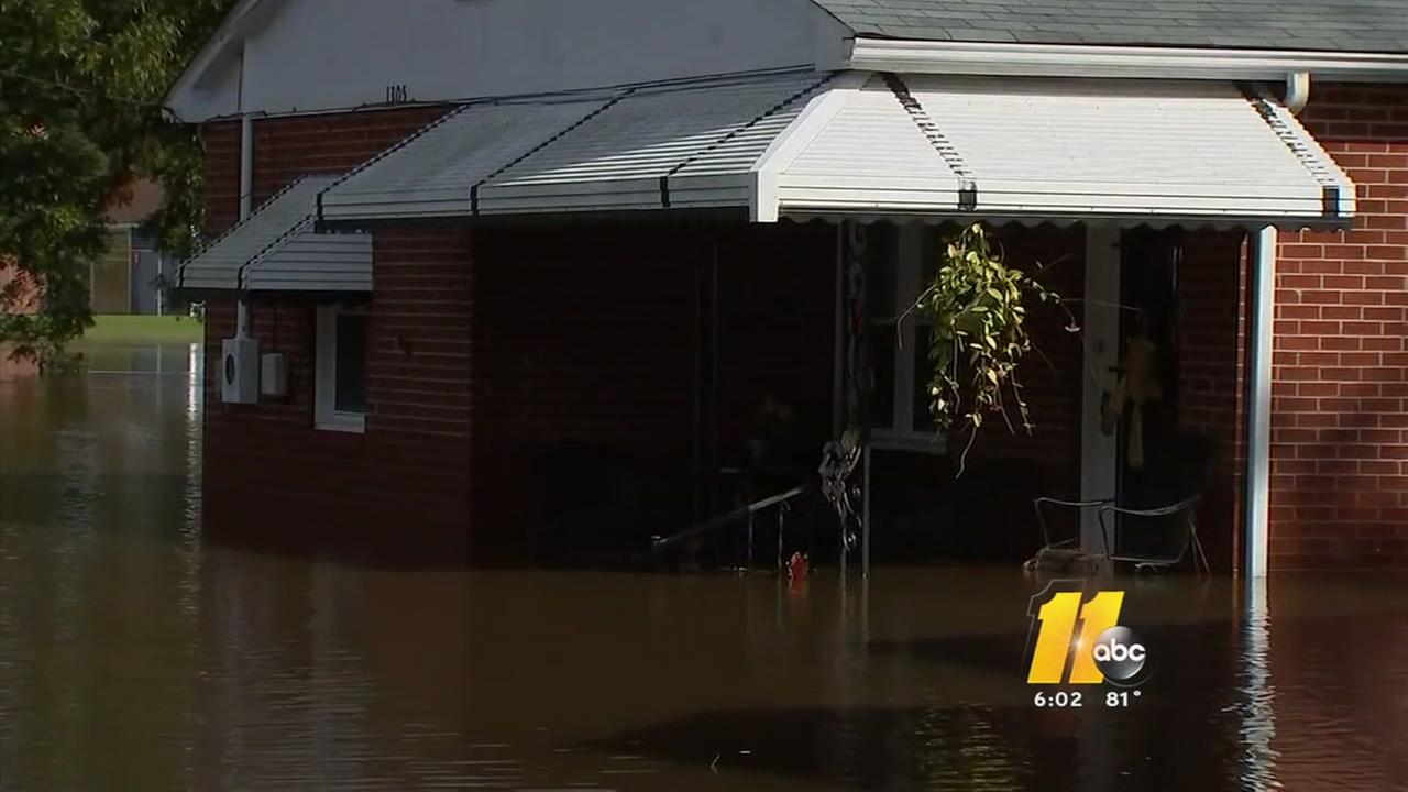 Devastating flooding in Edgecombe County