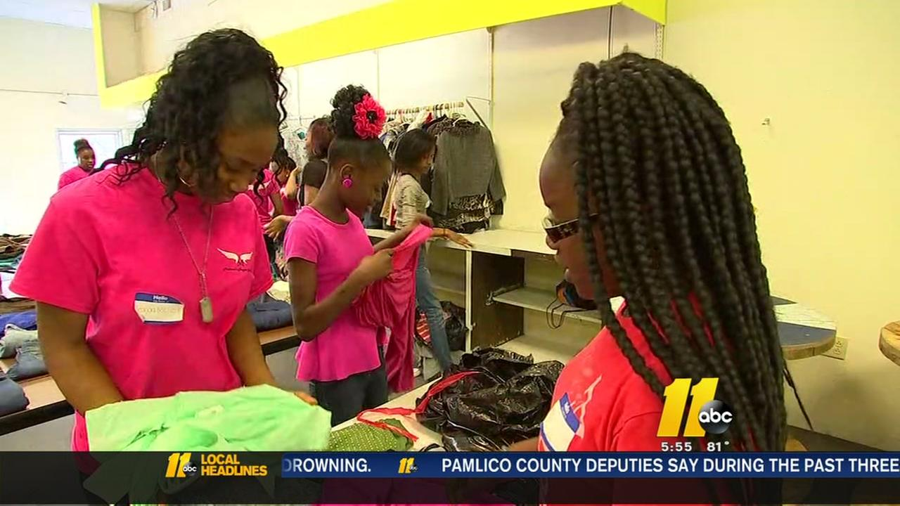 Girls group helps out hurricane victims