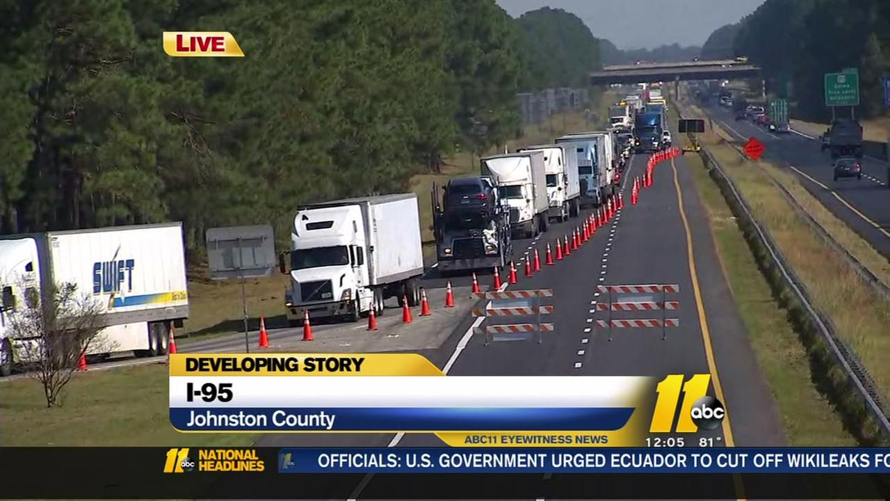 Southbound I-95 still closed after string of crashes