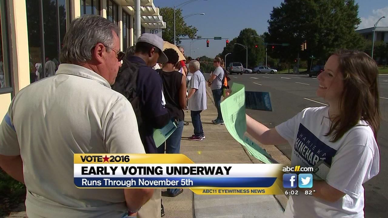 Early voting gets underway in NC