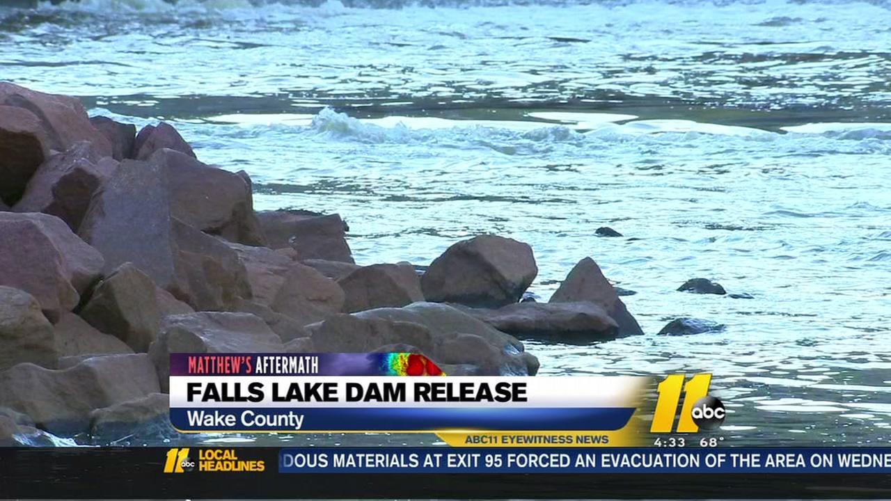 Falls Lake Dam release