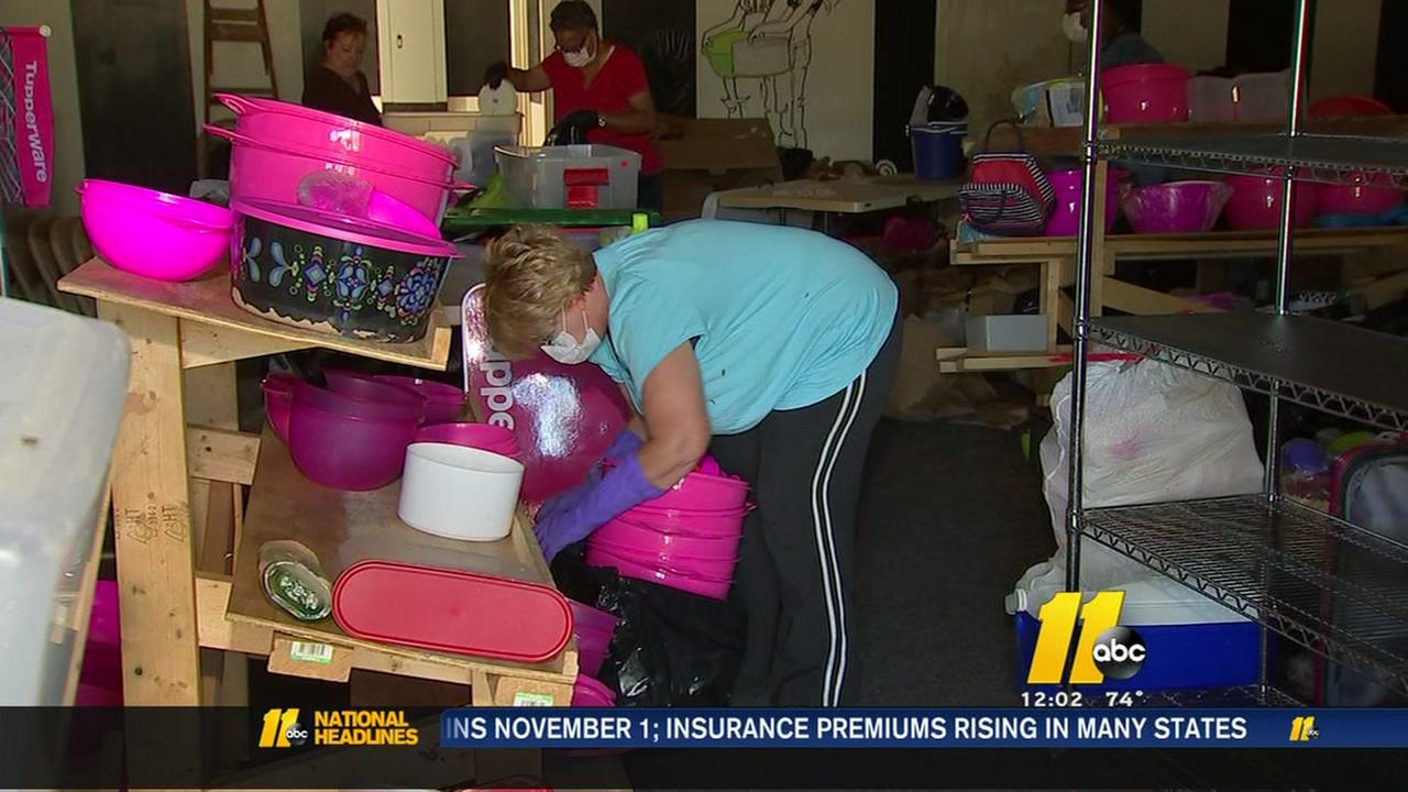 Triangle business owners sopping up flood damage