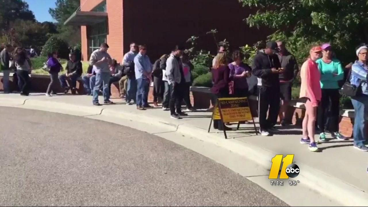 Big turnout for early voting in Durham